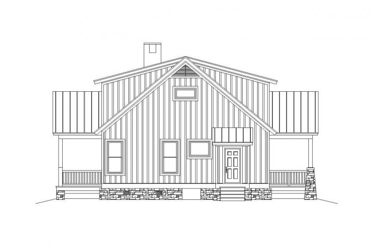 Craftsman House Plan -  30276 - Left Exterior