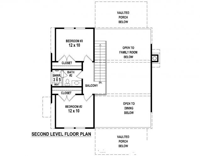 Craftsman House Plan -  30276 - 2nd Floor Plan