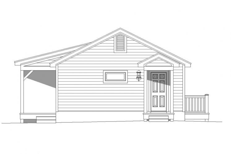 Lodge Style House Plan -  30298 - Rear Exterior