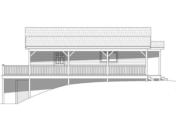 Lodge Style House Plan -  30298 - Right Exterior