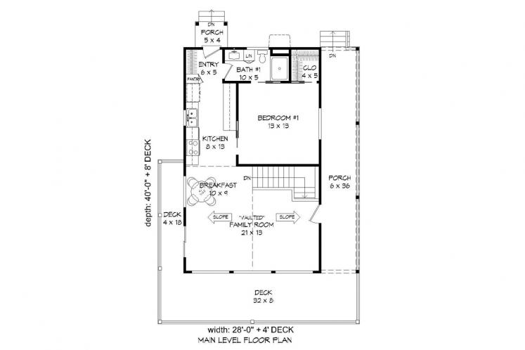 Cottage House Plan -  30298 - 1st Floor Plan