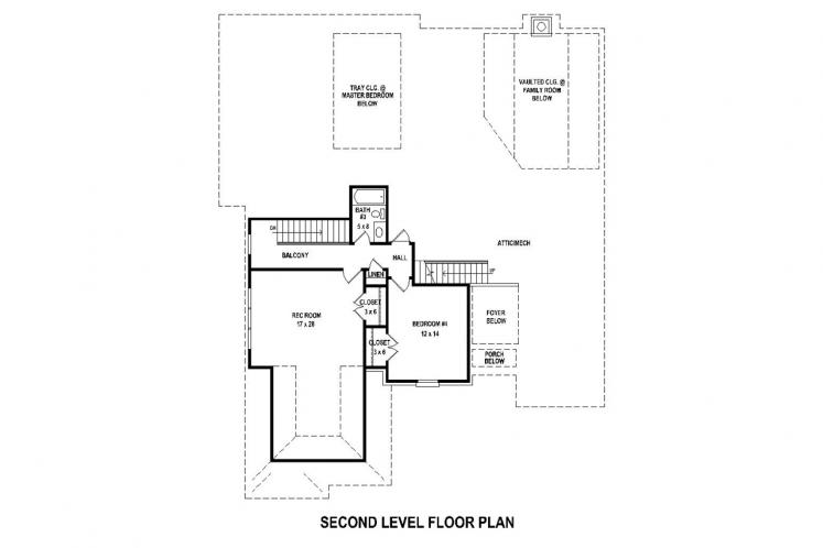 Classic House Plan -  30572 - 2nd Floor Plan