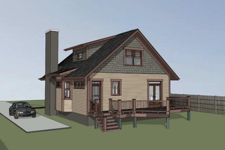 Country House Plan -  30584 - Right Exterior