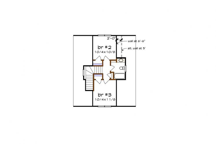 Cottage House Plan -  30584 - 2nd Floor Plan