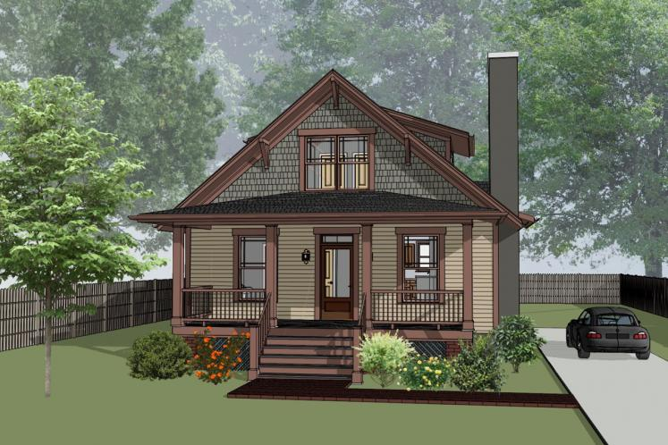 Bungalow House Plan -  30584 - Front Exterior