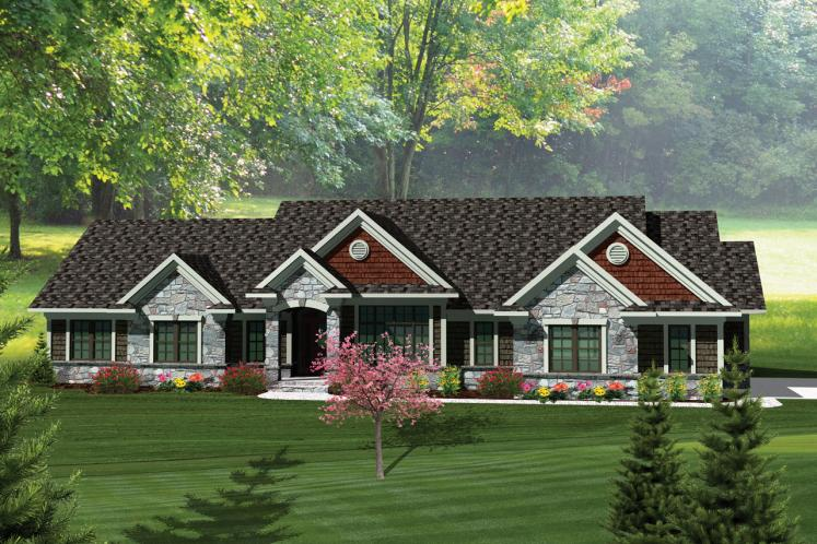 Ranch House Plan -  30588 - Front Exterior