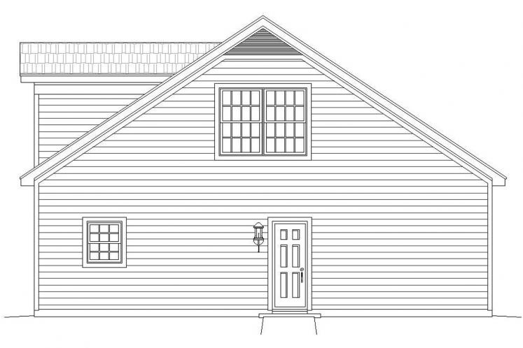 Traditional Garage Plan -  30607 - Right Exterior