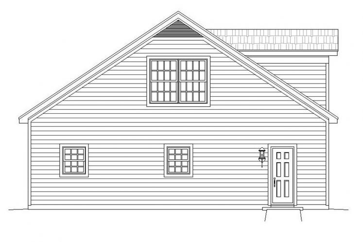 Country Garage Plan -  30607 - Left Exterior