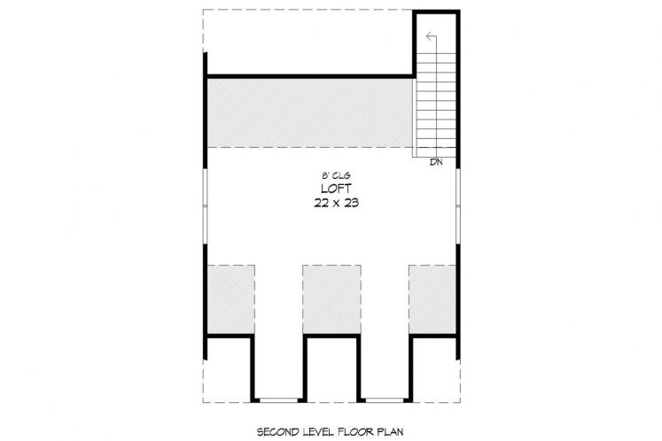 Country Garage Plan -  30607 - 2nd Floor Plan