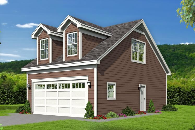 Traditional Garage Plan -  30607 - Front Exterior
