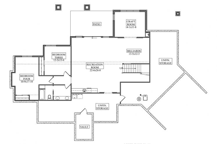 Craftsman House Plan - Canyon Shadow 30620 - Basement Floor Plan