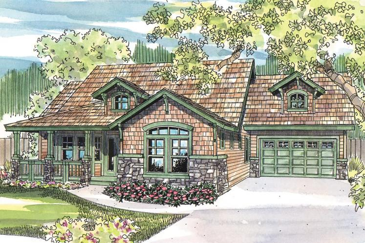 Craftsman House Plan - River Glen 30765 - Front Exterior