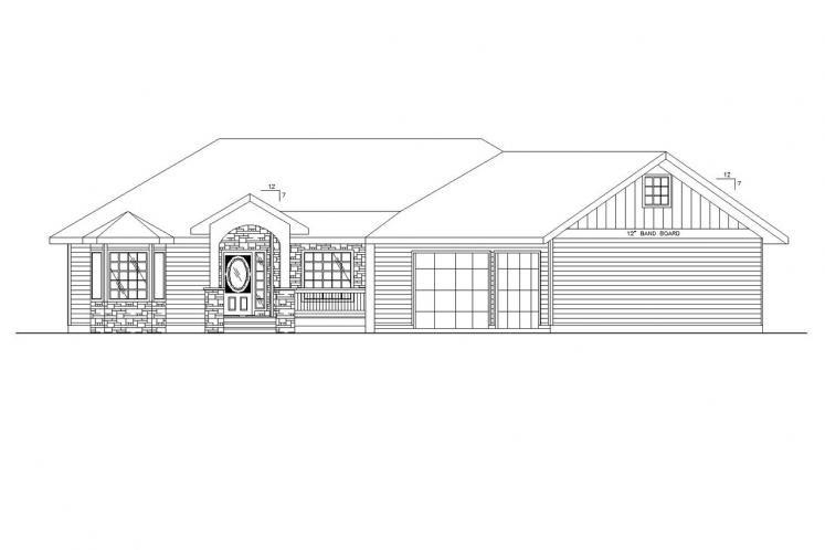Country House Plan -  30774 - Front Exterior