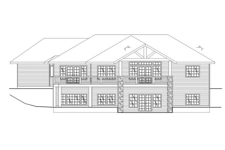 Traditional House Plan -  30774 - Rear Exterior