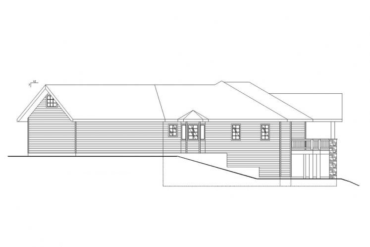 Country House Plan -  30774 - Right Exterior