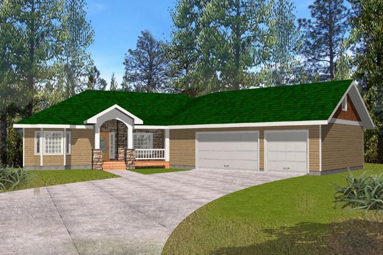 Ranch House Plan -  30774 - Front Exterior