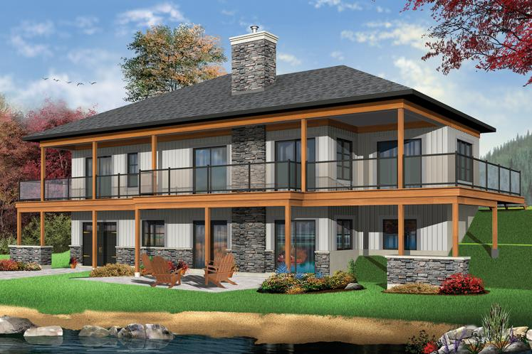 Country House Plan - The Belvedere 30883 - Rear Exterior