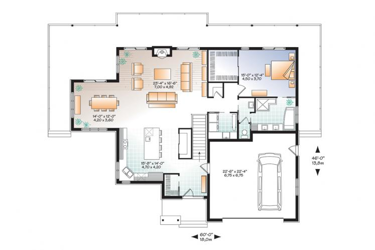 Traditional House Plan - The Belvedere 30883 - 1st Floor Plan
