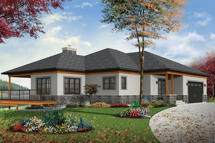 Ranch House Plan - The Belvedere 30883 - Front Exterior