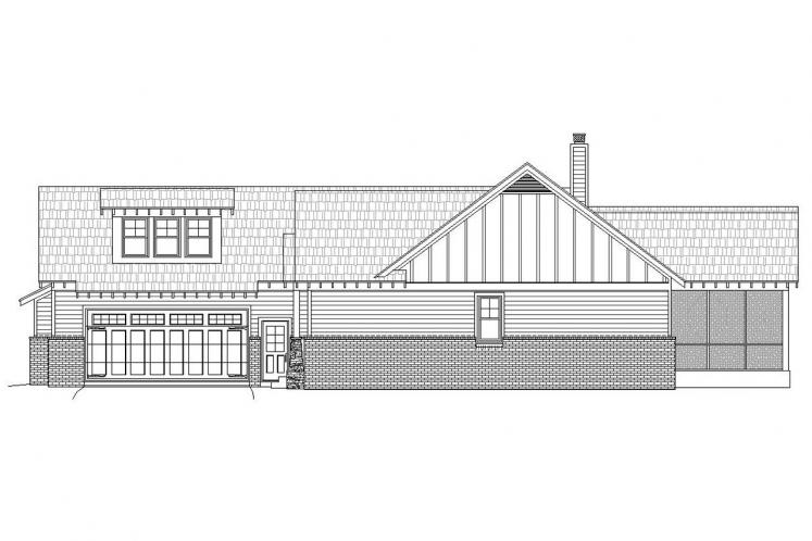 Ranch House Plan -  30890 - Right Exterior