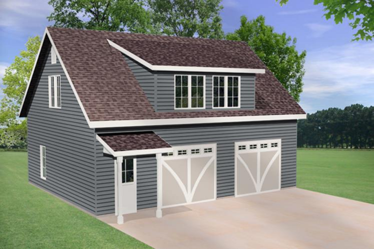 Country Garage Plan -  30939 - Front Exterior