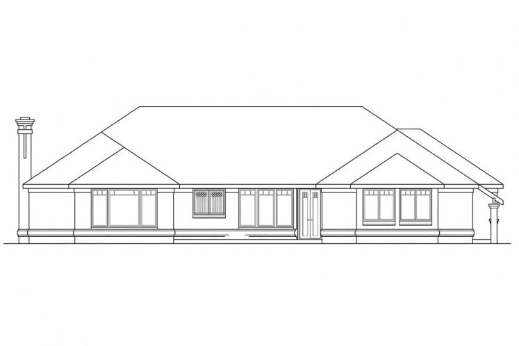 Traditional House Plan - Westbrook 30989 - Rear Exterior