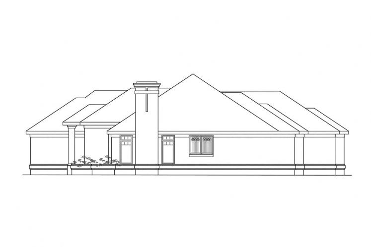 Ranch House Plan - Westbrook 30989 - Right Exterior