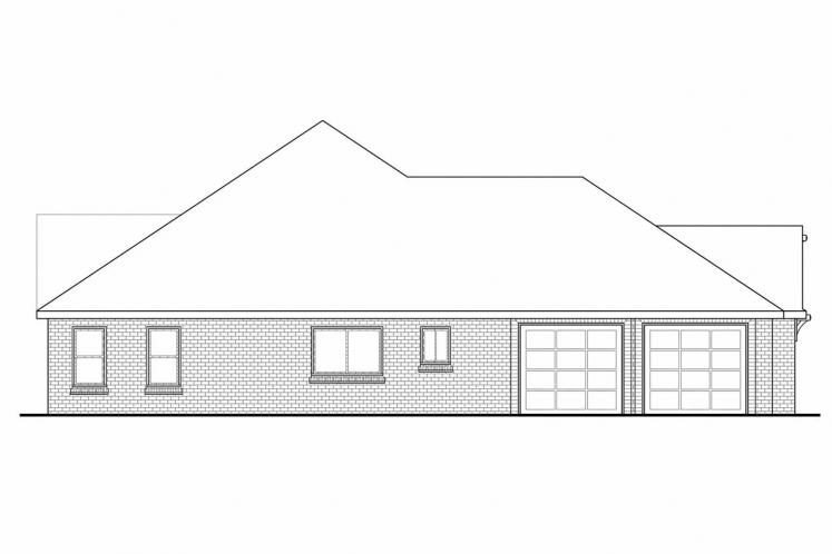 Southern House Plan - Winterberry 31187 - Left Exterior