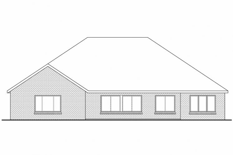 Classic House Plan - Winterberry 31187 - Rear Exterior