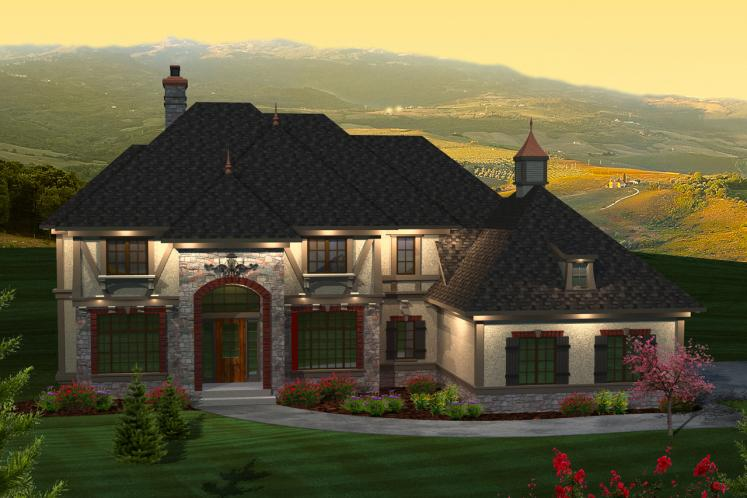 Country House Plan -  31219 - Front Exterior