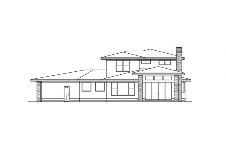 Modern House Plan - Rogue 31228 - Rear Exterior