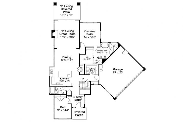 Prairie House Plan - Rogue 31228 - 1st Floor Plan