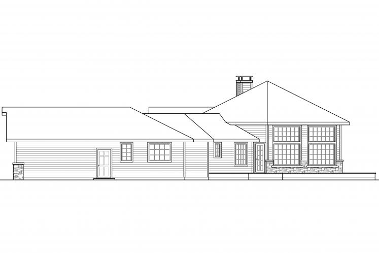 Ranch House Plan - Silvercrest 31248 - Right Exterior