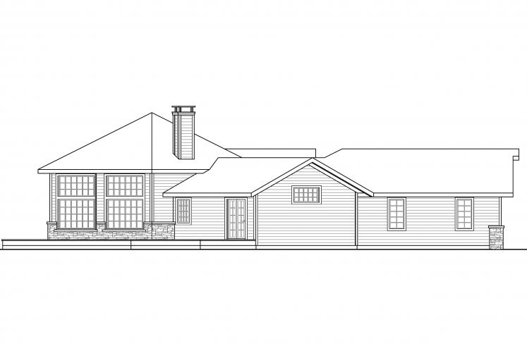 Craftsman House Plan - Silvercrest 31248 - Left Exterior