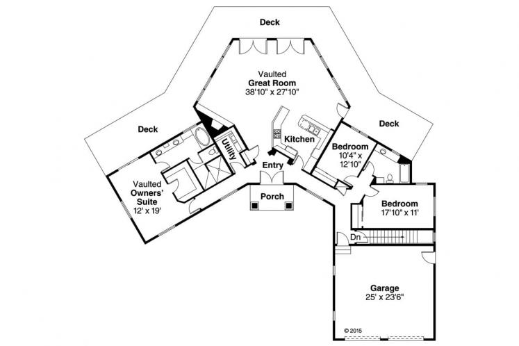Contemporary House Plan - Silvercrest 31248 - 1st Floor Plan