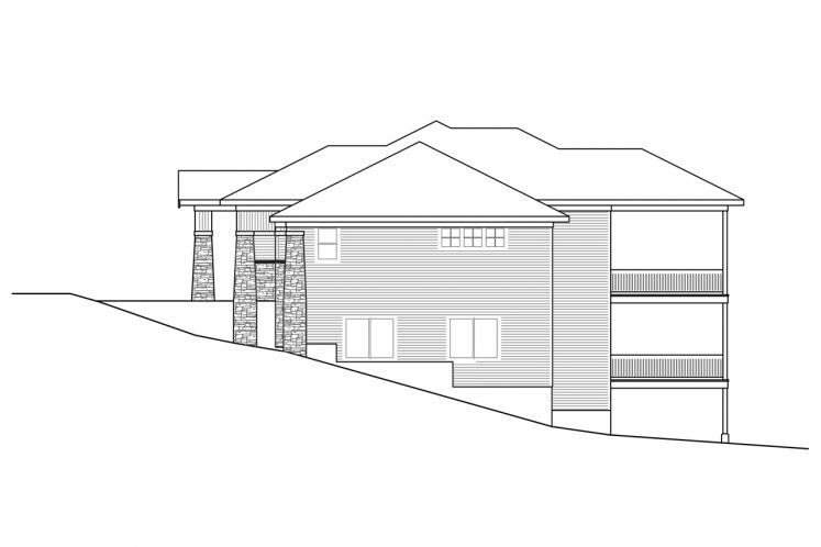 Traditional House Plan - Brandywine 31506 - Right Exterior