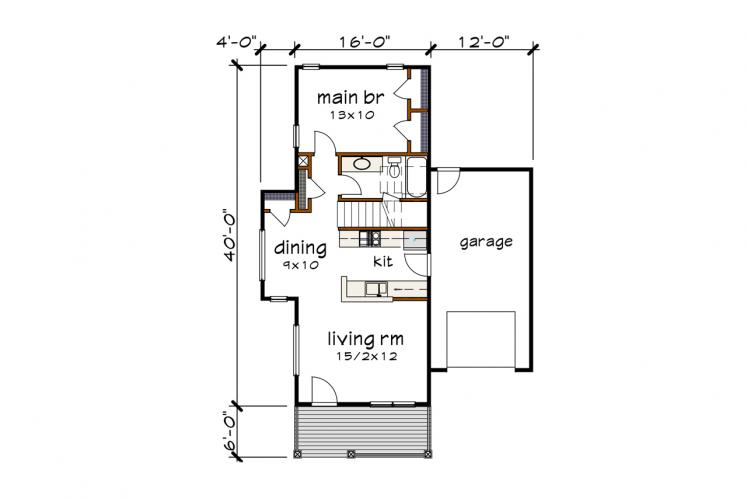 Country House Plan -  31591 - 1st Floor Plan