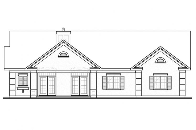 Spanish House Plan - Millport 31614 - Rear Exterior