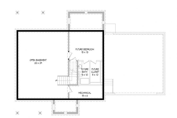 Country House Plan -  31769 - Basement Floor Plan