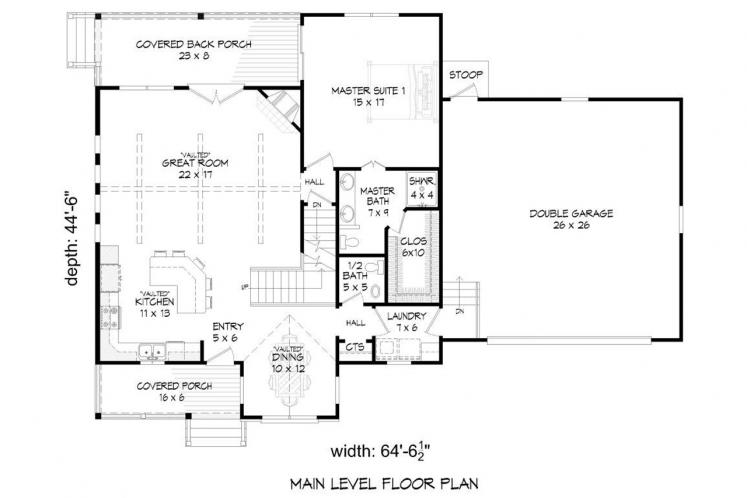 Country House Plan -  31769 - 1st Floor Plan