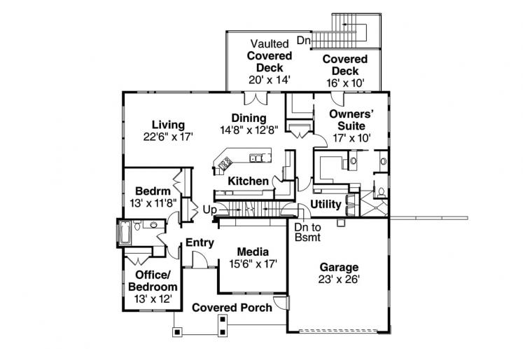 Country House Plan - Berkshire 31920 - 1st Floor Plan