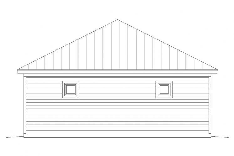 Traditional Garage Plan -  31923 - Right Exterior