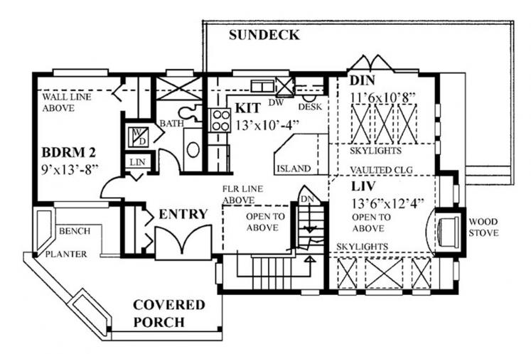 Lodge Style House Plan -  31974 - 1st Floor Plan