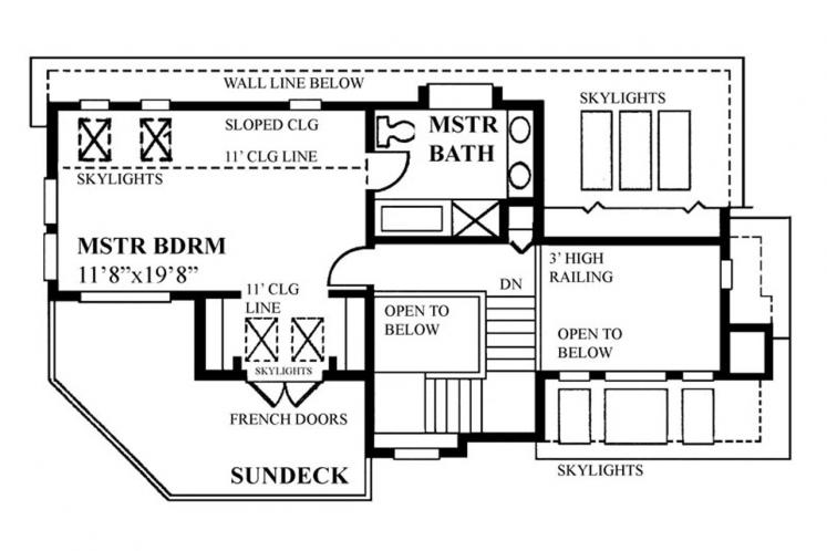 Cottage House Plan -  31974 - 2nd Floor Plan