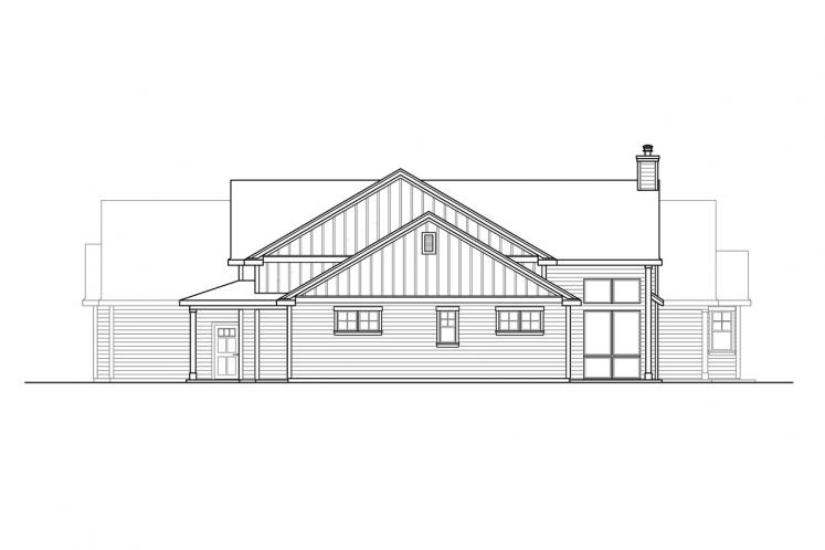 Farmhouse House Plan - Boulderfield 32005 - Right Exterior