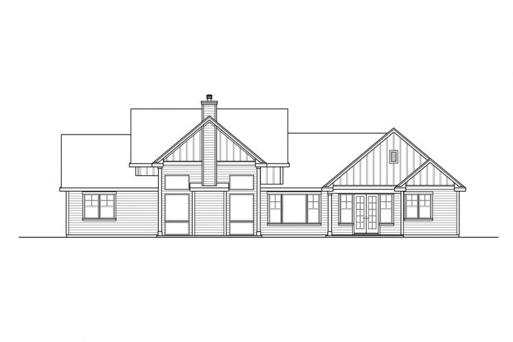Modern House Plan - Boulderfield 32005 - Rear Exterior