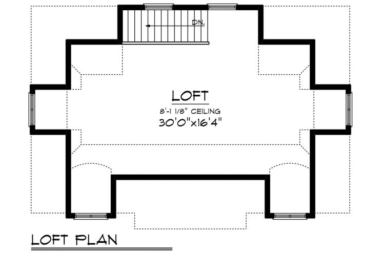 Cape Cod Garage Plan -  32221 - 2nd Floor Plan
