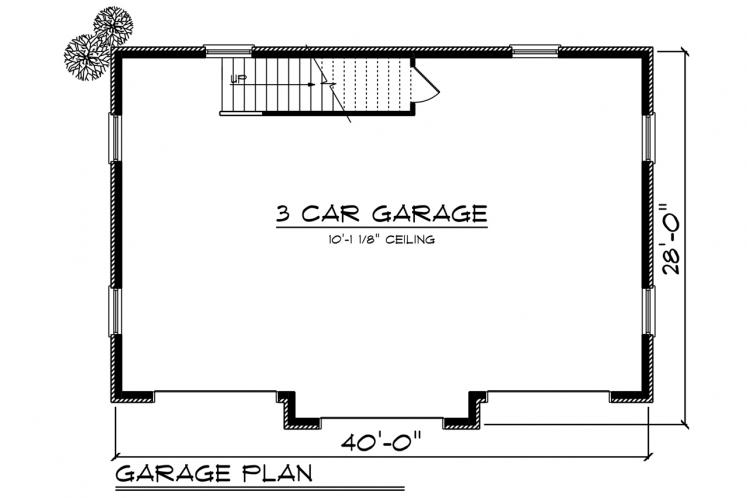 Classic Garage Plan -  32221 - 1st Floor Plan