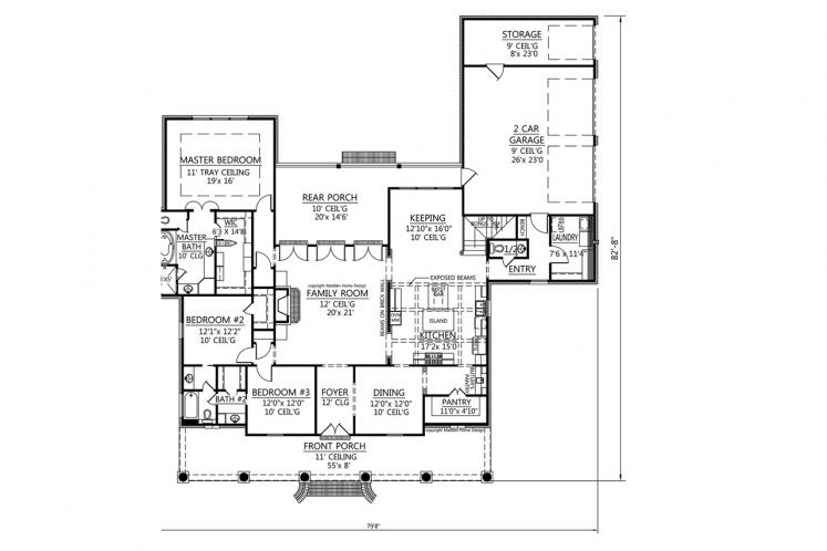 Cottage House Plan - Williamsburg 32252 - 1st Floor Plan