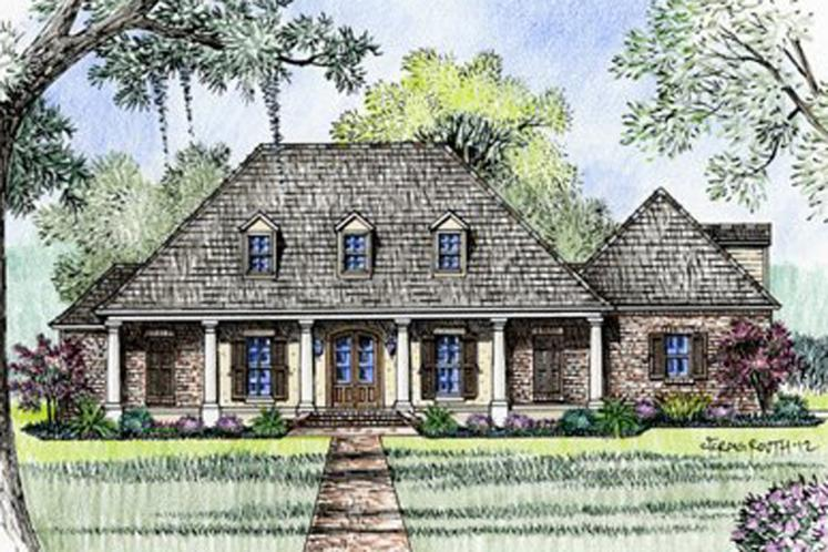 European House Plan - Williamsburg 32252 - Front Exterior